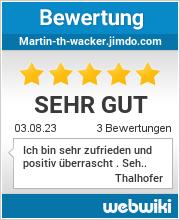 Bewertungen zu martin-th-wacker.jimdo.com