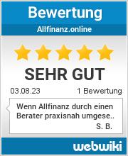 Bewertungen zu allfinanz.online