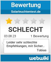 Bewertungen zu solarleuchtentest.de