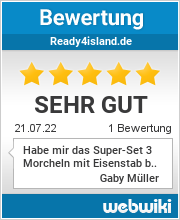 Bewertungen zu ready4island.de