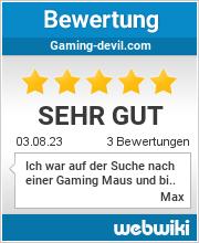 Bewertungen zu gaming-devil.com