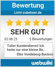 Bewertungen zu licht-zubehoer.de