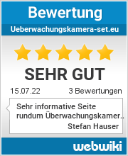 Bewertungen zu ueberwachungskamera-set.eu