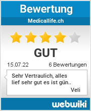 Bewertungen zu medicallife.ch