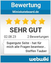Bewertungen zu miniskateboard.de