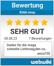 Bewertungen zu b360.shop