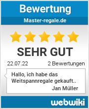 Bewertungen zu master-regale.de