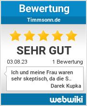 Bewertungen zu timmsonn.de