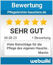 Bewertungen zu pflegeleichte-haustiere.de