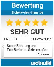 Bewertungen zu sichere-dein-haus.de