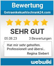 Bewertungen zu getraenkekuehlschrank24.com