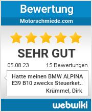 Bewertungen zu motorschmiede.com