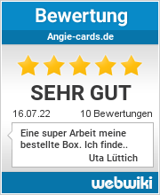 Bewertungen zu angie-cards.de