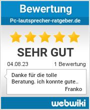 Bewertungen zu pc-lautsprecher-ratgeber.de