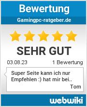 Bewertungen zu gamingpc-ratgeber.de