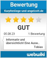 Bewertungen zu karpfenliege-und-angelzelt.de