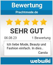 Bewertungen zu prachtmode.de