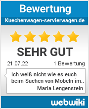 Bewertungen zu kuechenwagen-servierwagen.de
