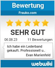Bewertungen zu frauko.com