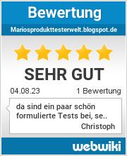 Bewertungen zu mariosprodukttesterwelt.blogspot.de