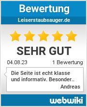 Bewertungen zu leiserstaubsauger.de