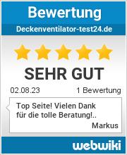 Bewertungen zu deckenventilator-test24.de