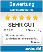Bewertungen zu laufgittertest24.de