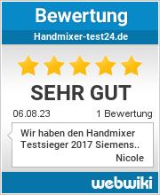 Bewertungen zu handmixer-test24.de