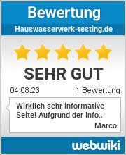 Bewertungen zu hauswasserwerk-testing.de