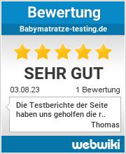Bewertungen zu babymatratze-testing.de