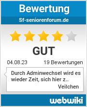Bewertungen zu sf-seniorenforum.de