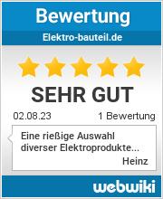 Bewertungen zu elektro-bauteil.de