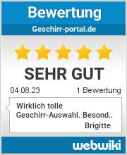 Bewertungen zu geschirr-portal.de