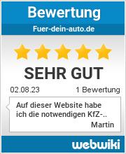 Bewertungen zu fuer-dein-auto.de