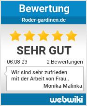 Bewertungen zu roder-gardinen.de
