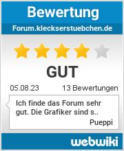 Bewertungen zu forum.kleckserstuebchen.de