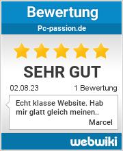 Bewertungen zu pc-passion.de