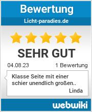 Bewertungen zu licht-paradies.de