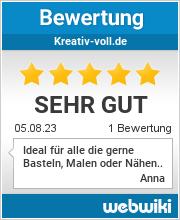 Bewertungen zu kreativ-voll.de