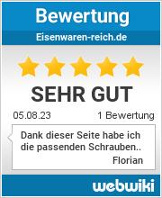 Bewertungen zu eisenwaren-reich.de