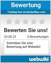 Bewertungen zu training-fuer-muskelaufbau.com
