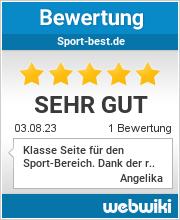Bewertungen zu sport-best.de