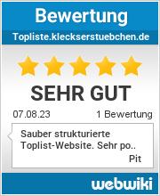 Bewertungen zu topliste.kleckserstuebchen.de