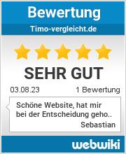 Bewertungen zu timo-vergleicht.de