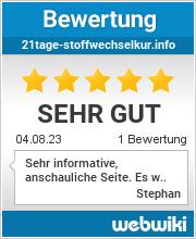 Bewertungen zu 21tage-stoffwechselkur.info