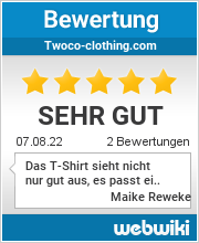 Bewertungen zu twoco-clothing.com