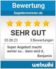 Bewertungen zu sagtdermeister.de