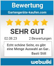 Bewertungen zu gartengeräte-kaufen.com