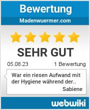 Bewertungen zu madenwuermer.com