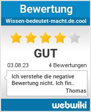 Bewertungen zu wissen-bedeutet-macht.de.cool